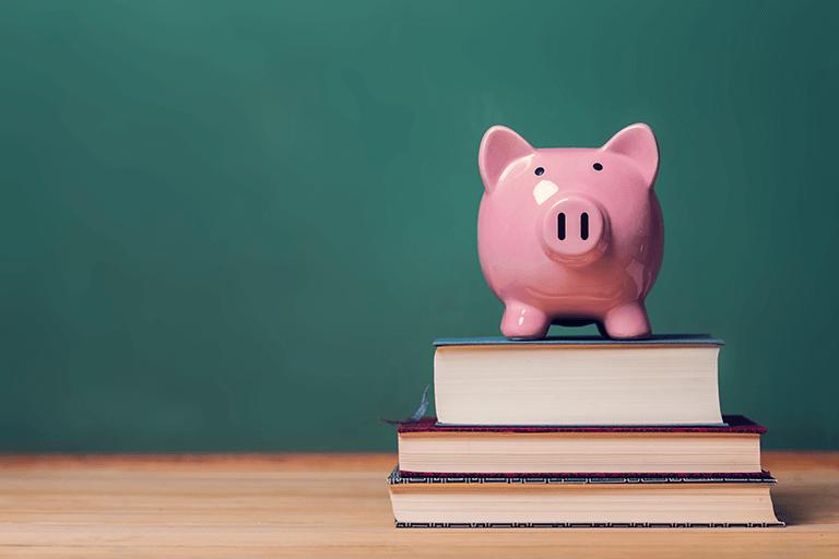 公的な奨学金制度を紹介している場面